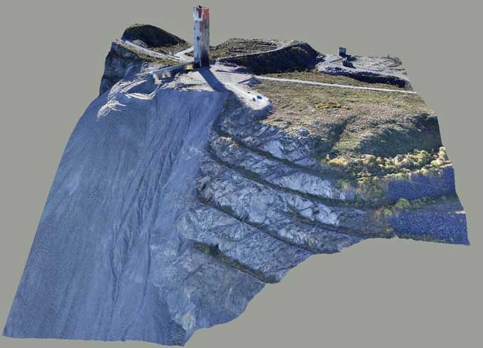 3D image of a mountain